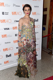 Rachel Weisz looked like a fairy princess in this colorful Valentino gown boasting a whimsical blend of floral embroidery during the TIFF premiere of 'Youth.'