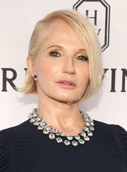 Ellen Barkin sported a simple yet stylish bob at the amfAR Inspiration Gala.
