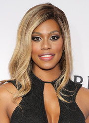 Laverne Cox sported lovely, soft waves at the amfAR Inspiration Gala.