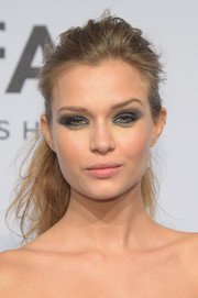 Josephine Skriver attended the amfAR New York Gala rocking a very edgy ponytail.