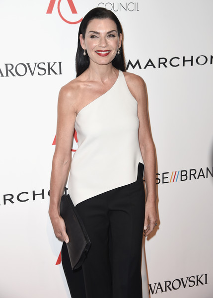 More Pics of Julianna Margulies Long Straight Cut (1 of 6) - Long Hairstyles Lookbook - StyleBistro