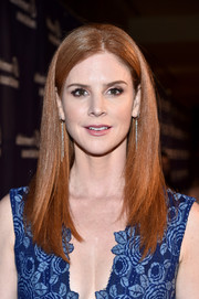 Sarah Rafferty showed off a sleek hairstyle at the Alzheimer Association's A Night at Sardi's event.