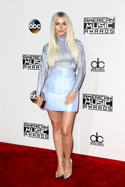 Julianne Hough completed her retro-inspired outfit with a pastel-blue mini skirt, also by Zuhair Murad.