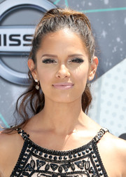 Rocsi Diaz hit the BET Awards wearing her hair in a glammed-up ponytail.