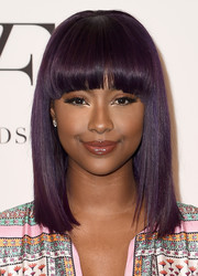 Justine Skye looked fab with her purple 'do at the DVF Awards.