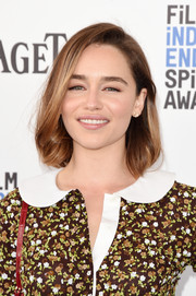 Emilia Clarke opted for a simple, classic bob when she attended the Film Independent Spirit Awards.