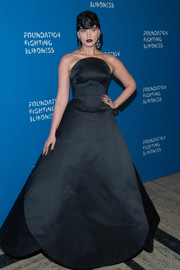 Crystal Renn stole the spotlight in this goth-glam strapless gown during the Foundation Fighting Blindness World Gala.
