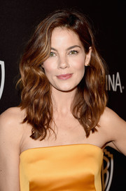 Michelle Monahan went for a beachy, wavy cut at the InStyle and Warner Bros. Golden Globes afterparty.