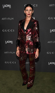 Liberty Ross went majorly sparkly in a fully sequined pantsuit by Gucci at the 2016 LACMA Art + Film Gala.