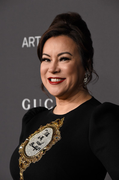 Jennifer Tilly attended the 2016 LACMA Art + Film Gala sporting a classic beehive.