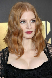 Jessica Chastain looked gorgeous, as always, wearing this face-framing wavy 'do at the MTV Movie Awards.
