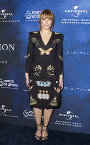Bryce Dallas Howard attended the 2016 March of Dimes Celebration of Babies wearing a symmetrical-print dress by Alexander McQueen.