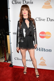Juliette Lewis tied her look together with a pair of flirty shorts.