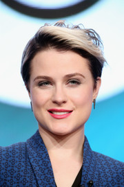 Evan Rachel Wood went for a punk edge with this messy cut with dark roots during day 4 of the 2016 Summer TCA Tour.