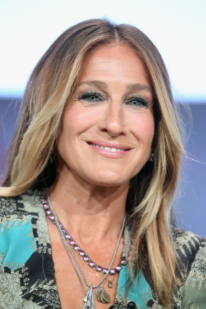 Sarah Jessica Parker S Classic Center Parted Style