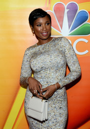 Jennifer Hudson arrived for the NBCUniversal Summer TCA Tour carrying a stylish white M2Malletier purse.