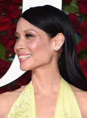 Lucy Liu spruced up her simple 'do with Lorraine Schwartz diamond ear cuffs.