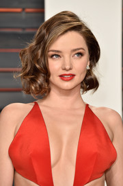 Miranda Kerr amped up the cuteness with a red lip.