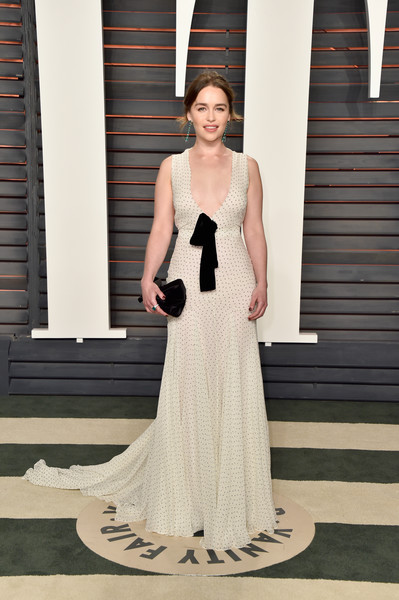 In Miu Miu At The Vanity Fair Oscar Party, 2016