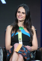 Jordana Brewster looked polished with a long straight cut at the Winter TCA Tour.