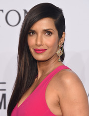 Padma Lakshmi looked elegant with her side-swept tresses at the amfAR New York Gala.