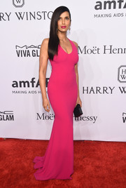 Padma Lakshmi's magenta gown at the amfAR New York Gala did an excellent job of showing off her amazing figure!