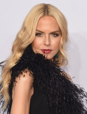 Rachel Zoe was vintage-glam at the amfAR New York Gala with her long waves and feathered dress.