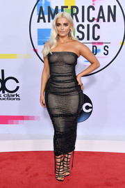 Bebe Rexha kept it chic and sexy all the way down to her strappy Sergio Rossi gladiator heels.
