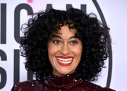 Tracee Ellis Ross wore her hair in voluminous curls at the 2017 American Music Awards.