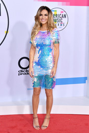 Chrishell Stause looked playfully chic in an iridescent paillette dress by Jovani at the 2017 American Music Awards.