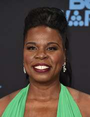 Leslie Jones attended the 2017 BET Awards rocking a pompadour ponytail.
