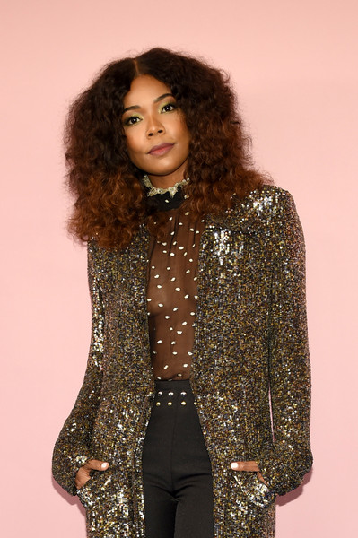 More Pics of Gabrielle Union Evening Coat (1 of 3) - Outerwear Lookbook - StyleBistro [clothing,outerwear,fashion,fashion design,long hair,jacket,fashion model,arrivals,gabrielle union,hammerstein ballroom,new york city,cfda fashion awards]