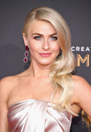 Julianne Hough paired her glamorous 'do with dangling ruby earrings by Dvani.