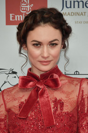 Olga Kurylenko was fairytale-glam with her crown braid at the 2017 Dubai International Film Festival opening night gala.