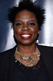 Leslie Jones was hard to miss with her spiked hair at the 2017 Garden of Laughs benefit.