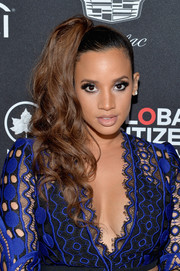 Dascha Polanco styled her hair into a high side ponytail for the 2017 Global Citizen Festival.
