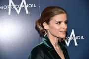 Kate Mara styled her hair into a twisted bun for the Humane Society of the United States' To the Rescue! Gala.