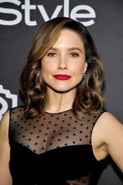 Sophia Bush showed off perfect curls at the InStyle and Warner Bros. Golden Globes post-party.
