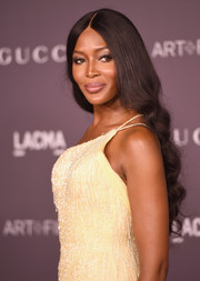 Naomi Campbell looked sweet with her long curls at the 2017 LACMA Art + Film Gala.