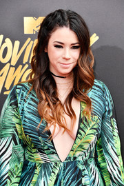 Jillian Rose Reed wore punk-glam ombre curls at the 2017 MTV Movie and TV Awards.