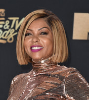 Taraji P. Henson worked a blunt bob at the 2017 MTV Movie and TV Awards.