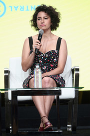 Ilana Glazer went girly in a floral dress with a sweetheart neckline for day 1 of the 2017 Summer TCA Tour.