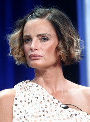 Gabrielle Anwar wore her hair in a curled-out bob at the 2017 Summer TCA Tour.