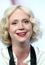 Gwendoline Christie attended the 2017 Summer TCA Tour wearing her hair in a platinum-blonde curled-out bob.