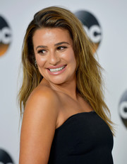 Lea Michele was edgy-chic at the 2017 Summer TCA Tour wearing this textured layered cut.