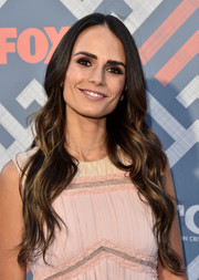 Jordana Brewster wore her long tresses down in a boho wavy style at the 2017 Summer TCA Tour.