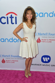 Susan Lucci attended the 2017 T.J. Martell Women of Influence event wearing a classic fit-and-flare LWD.