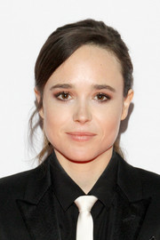 Ellen Page pulled her hair back into a ponytail for the TIFF premiere of 'The Cured.'