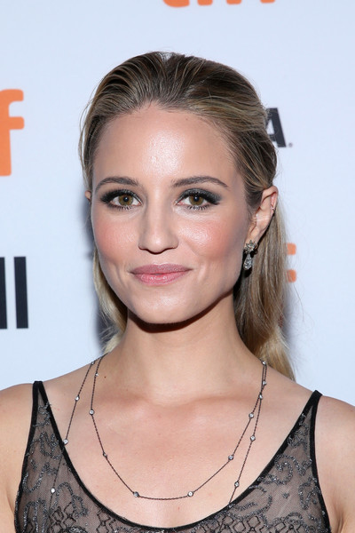 Dianna Agron opted for a simple half-up hairstyle when she attended the TIFF premiere of 'Novitiate.'