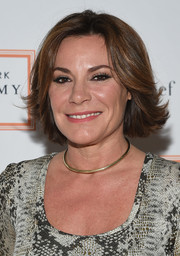 LuAnn de Lesseps attended the 2017 Tribeca Ball wearing a stylish layered bob.
